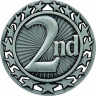 "2-1/2"" 2nd Place Star Medallion  - SM-162-NR"